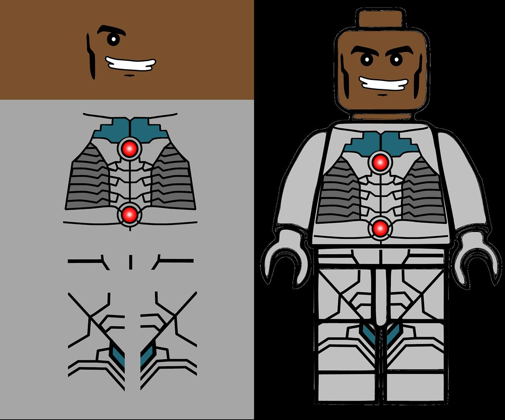 Lego Cyborg Decals | www.imgkid.com - The Image Kid Has It!