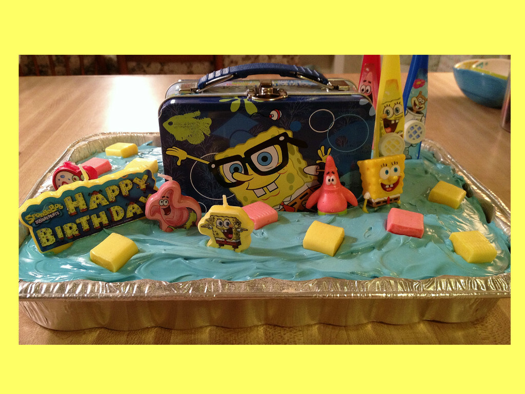 SpongeBob cake by Katie Jackson MS wwwbirthdaycakes4fr Flickr