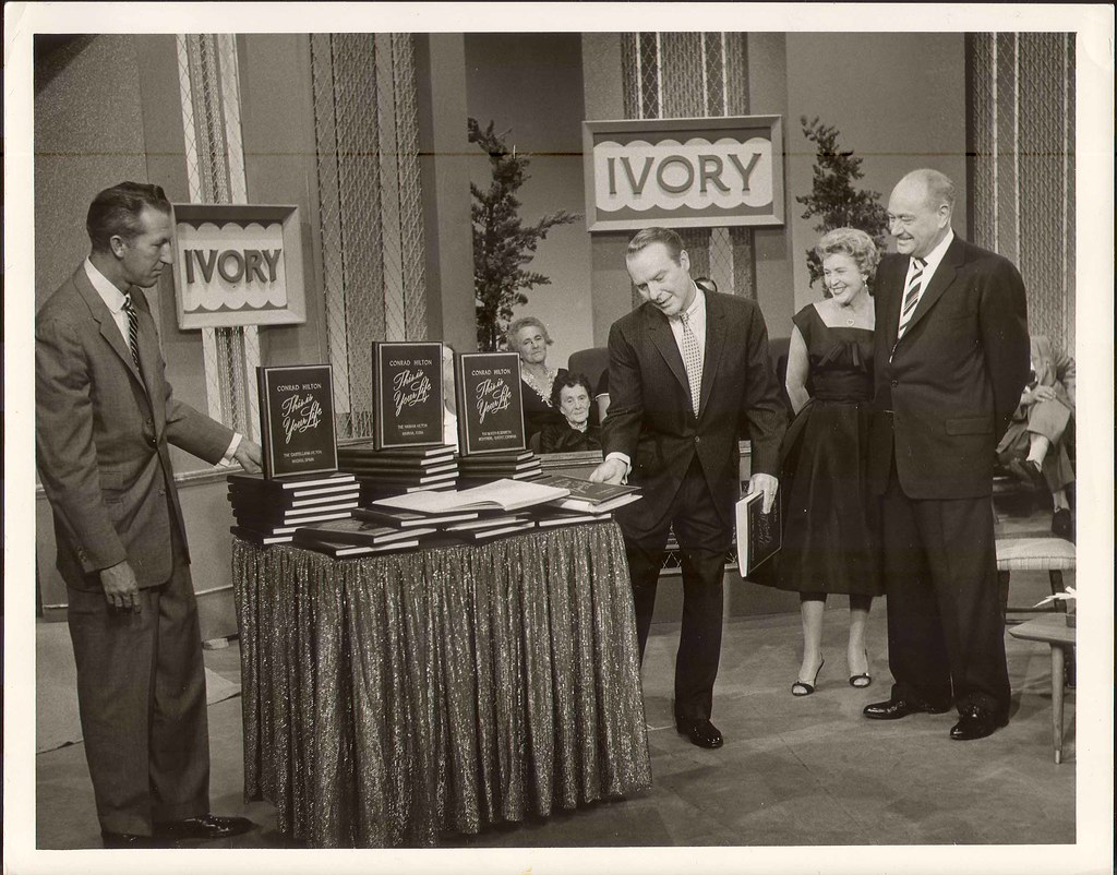 """Conrad Hilton on TV Show """"This is your Life""""   In June 1958,…   Flickr"""