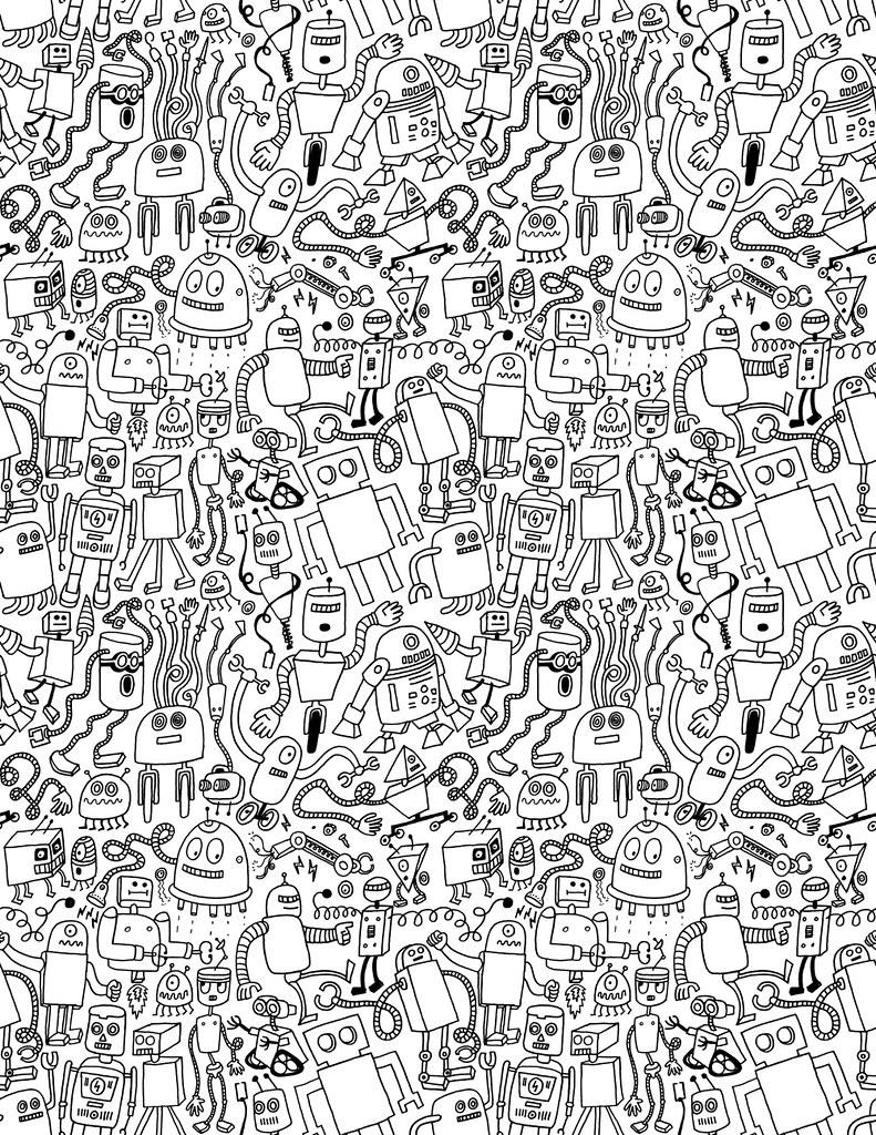 robot-pattern-bw.jpg | > chrispiascik.com | Defgrip | Flickr