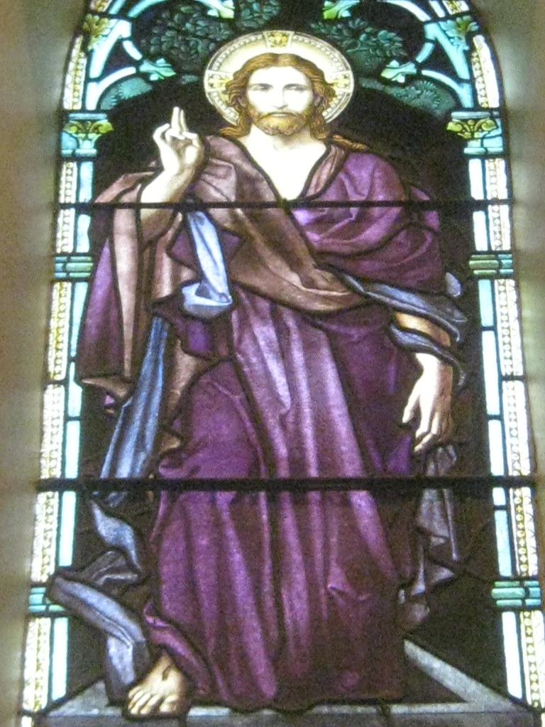 Detail of Jesus in the Let Your Heart Not be Troubled Wind