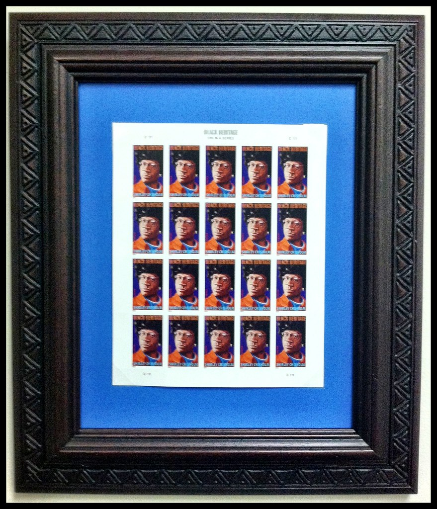 Shirley Chisolm framed in kara by african frames | Shirley C ...