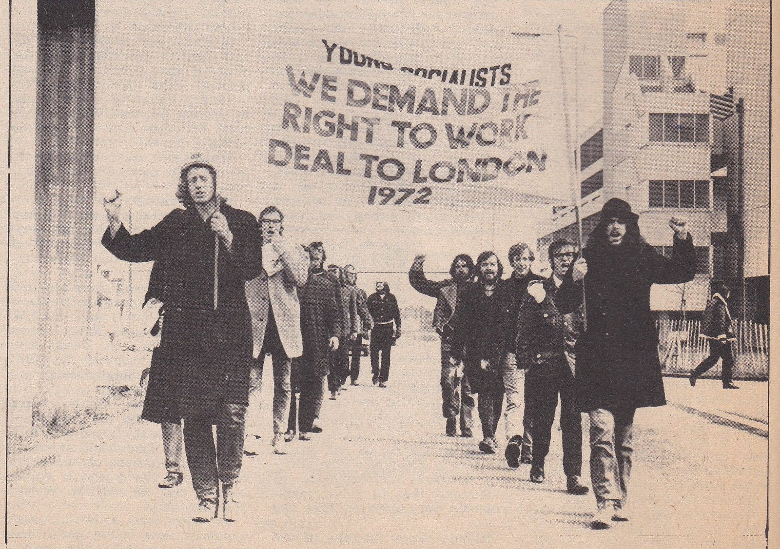 bill 3rd on the right - right work march 1972