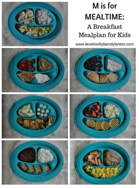 M is for Mealtime - A Breakfast Mealplan for Kids