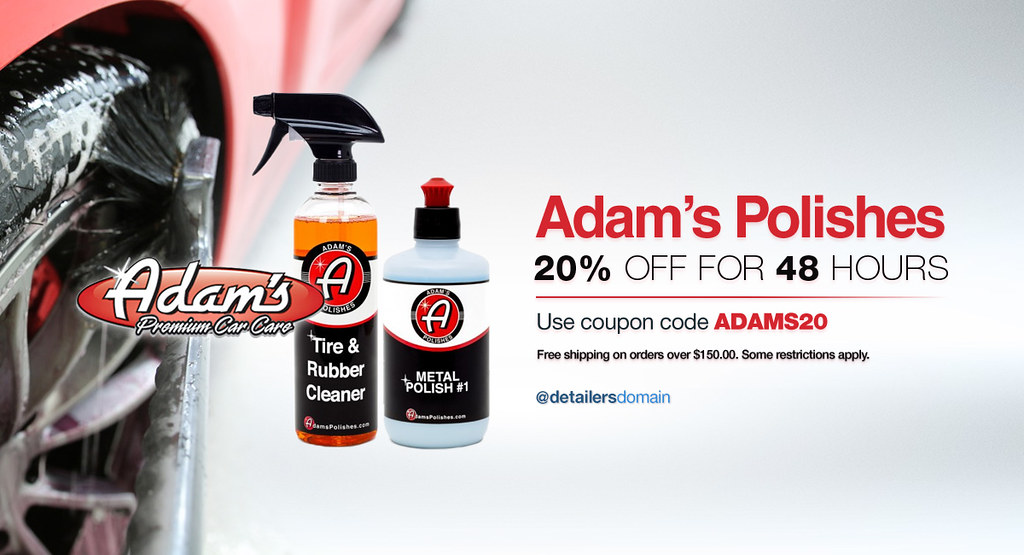 For 48 Hours Only Save 20 Off On Adam S Polishes