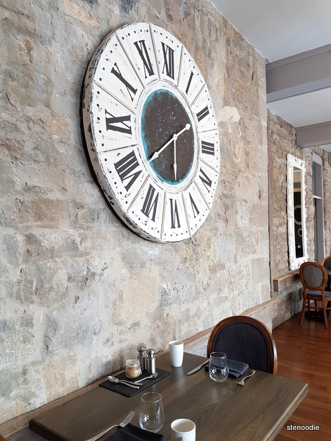 Rustic clock on the wall