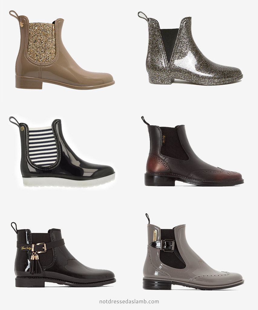 Capsule wardrobe: 18 short, stylish Wellington boots / welly boots / wellies to shop   Not Dressed As Lamb