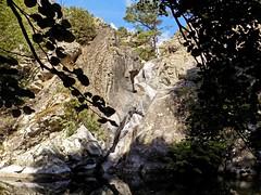 Vasque d'arrivée de la cascade finale du canyon de Meriu