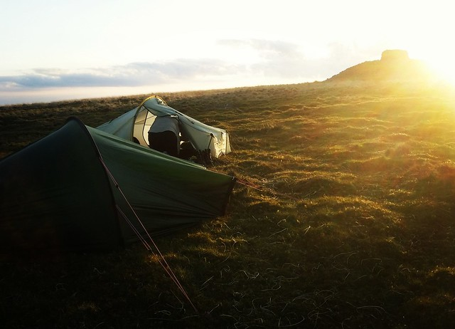 Camp sunset at Eastern White Barrow