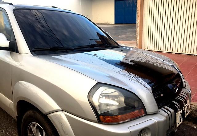 Novo atentado: carro do editor do Blog do Jeso é vandalizado na madrugada, carro vandalizado - Jeso