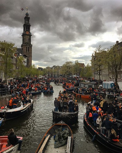 The sun was off and on but always nice to celebrate #kingsday in Amsterdam. | by nategrubbs