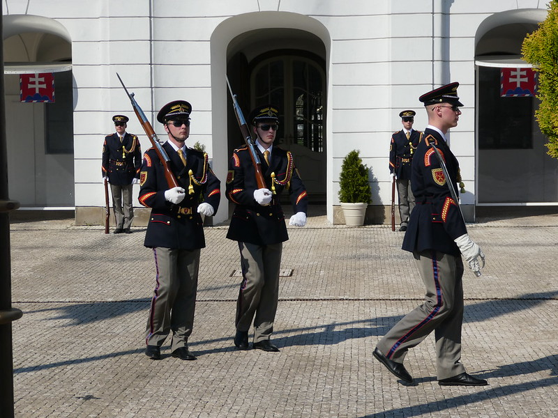 Changing of the guards, Presidential Palace, Bratislava