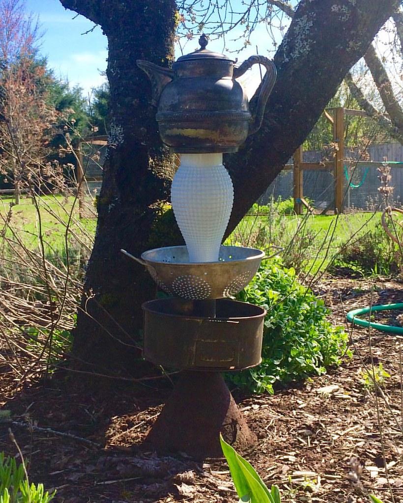 Sunshine inspired funky junky garden totem...#usewhatyougo…   Flickr