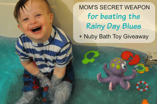 Mom's Secret Weapon for Beating the Rainy Day Blues + Nuby Bath Toy Giveaway