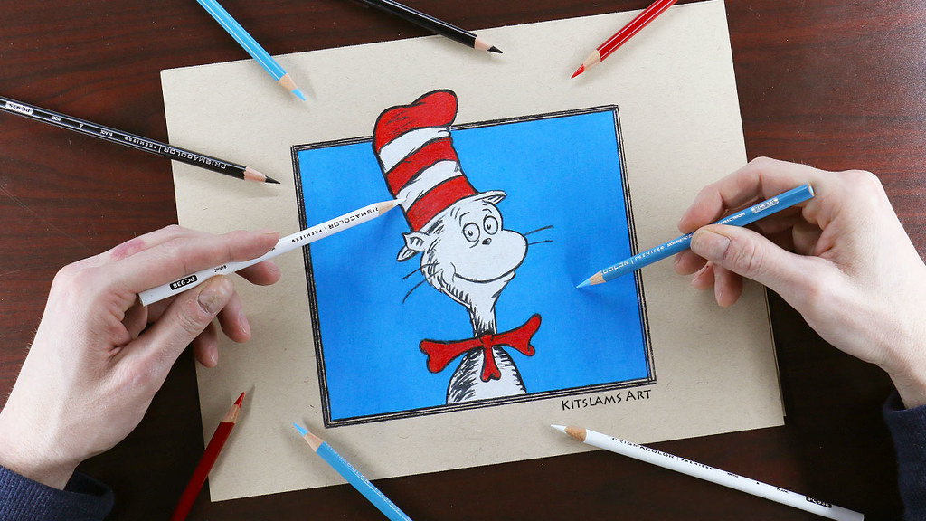 cat in the hat drawing cat in the hat drawing with two han flickr