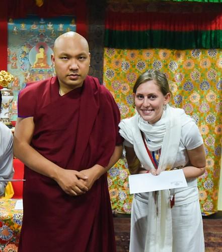 Sherab Lhamo with Karmapa