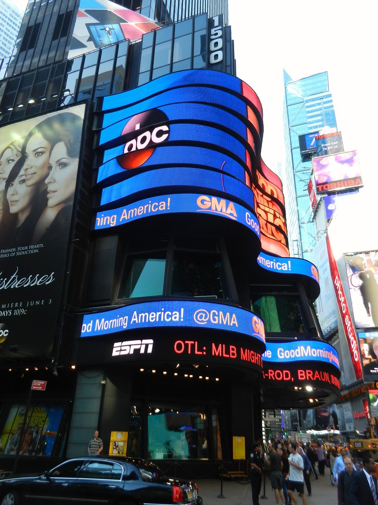 The 1500 Broadway Building In Times Square Is Home To Abc