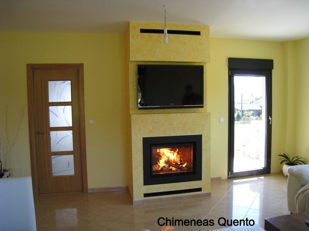 Chimenea quento modelo ardin con aparato de calefacci n po - Calefaccion por chimenea ...