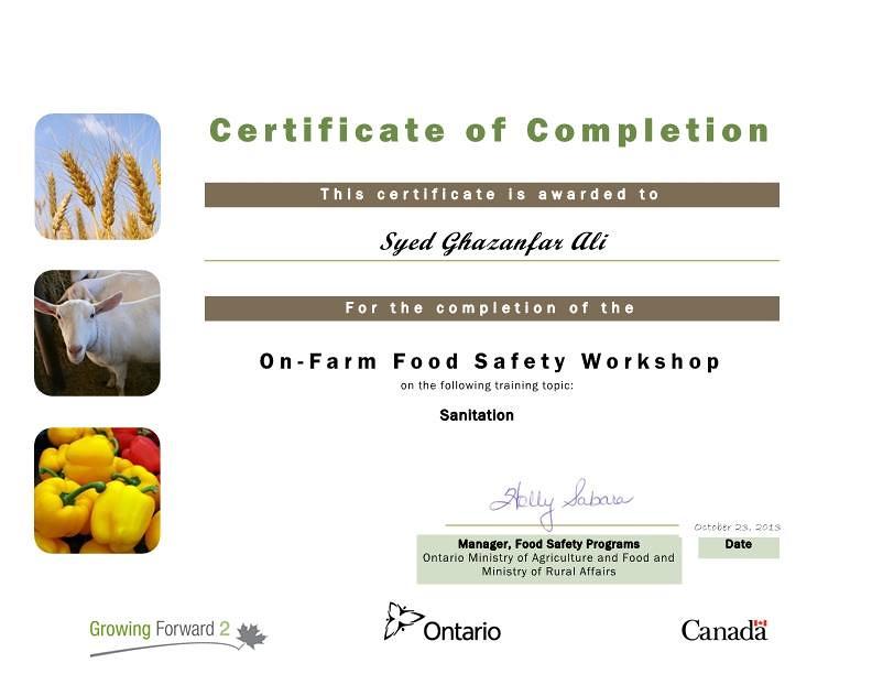 Sanitation Certificate Attended Growing Forward 2 Training Flickr