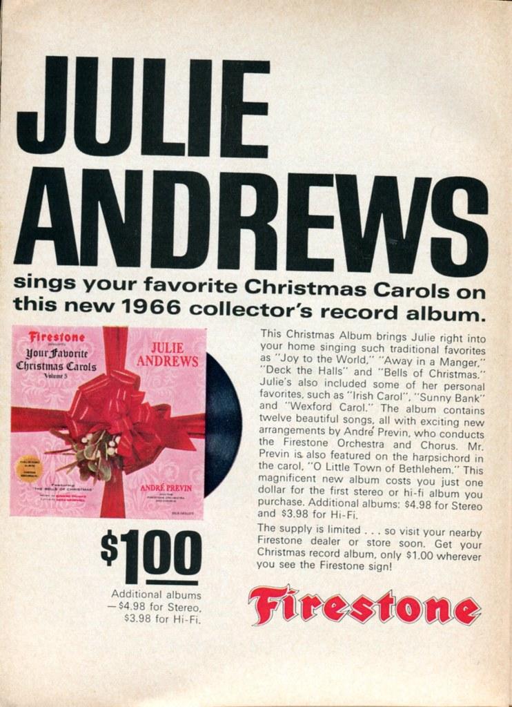 1966 firestone christmas album advertisement readers digest december 1966 by senseialan