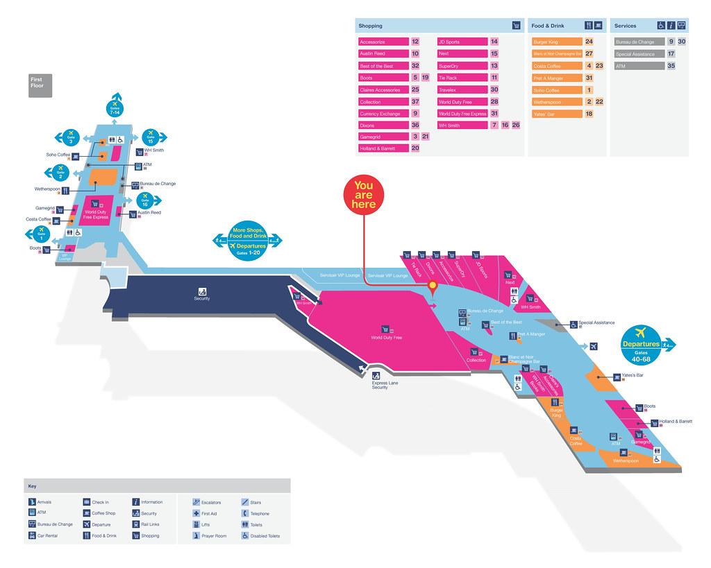 Birmingham Airport  Terminal Map  Map And Wayfinding For