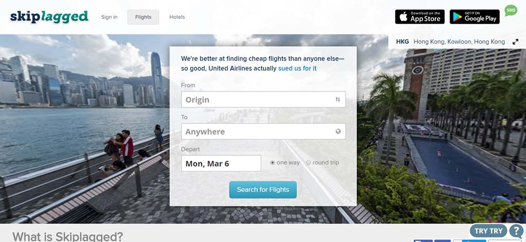 Extremely useful websites #8: This website finds the cheapest flights and let you save up to 80 percent.