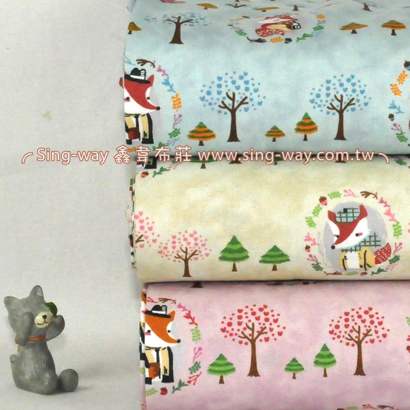 狐狸人的幻想  可愛動物手工藝DIy拼布布料 CA450647