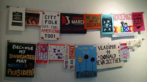 #womensmarch installation reception at Studio SoHy in Hyattsville, Maryland.
