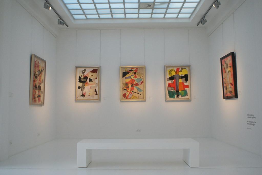 A l'intérieur du musée d'art moderne de Wroclaw.