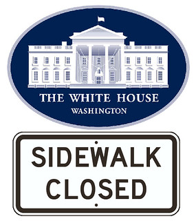 Trump White House: 'Get Off the Sidewalk!