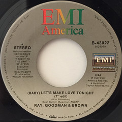 RAY, GOODMAN & BROWN:(BABY) LET'S MAKE LOVE TONIGHT(LABEL SIDE-A)