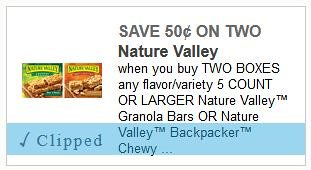 Nature Valley Granola Bars and Entenmann's