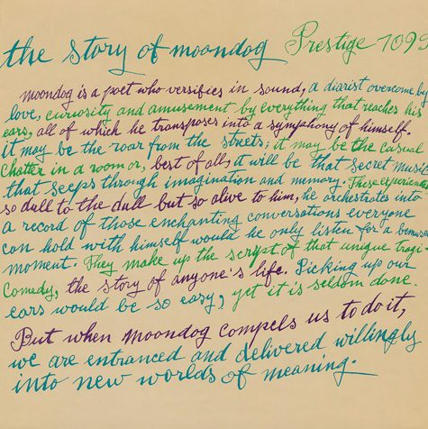 The Story of Moondog - Julia Warholas calligraphy