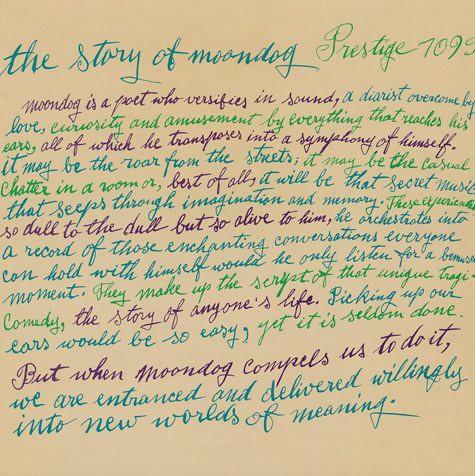 The Story of Moondog - Julia Warholas calligraphy