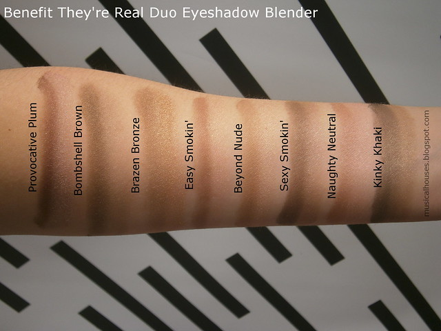Benefit They're Real Duo Eyeshadow Blender Swatches
