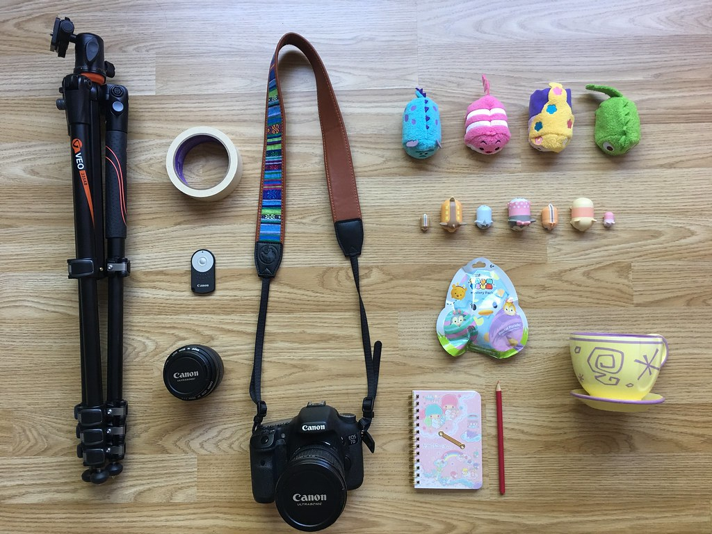Picture of equipment for tsum tsum stop motion video