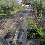 Old wooden bridge without Neven