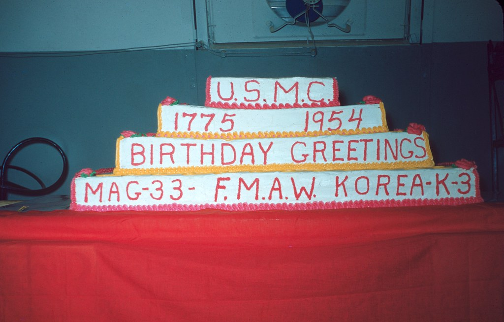 Marine corps birthday cake korea and japan 1954 55 photog flickr marine corps birthday cake by m20wc51 m4hsunfo