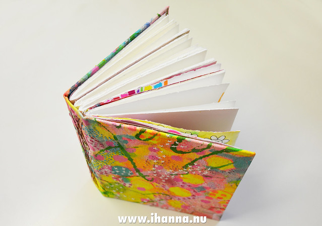 Handbound Art Journal with embroidered Cover by iHanna a.k.a Hanna Andersson #artjournal #embroidery