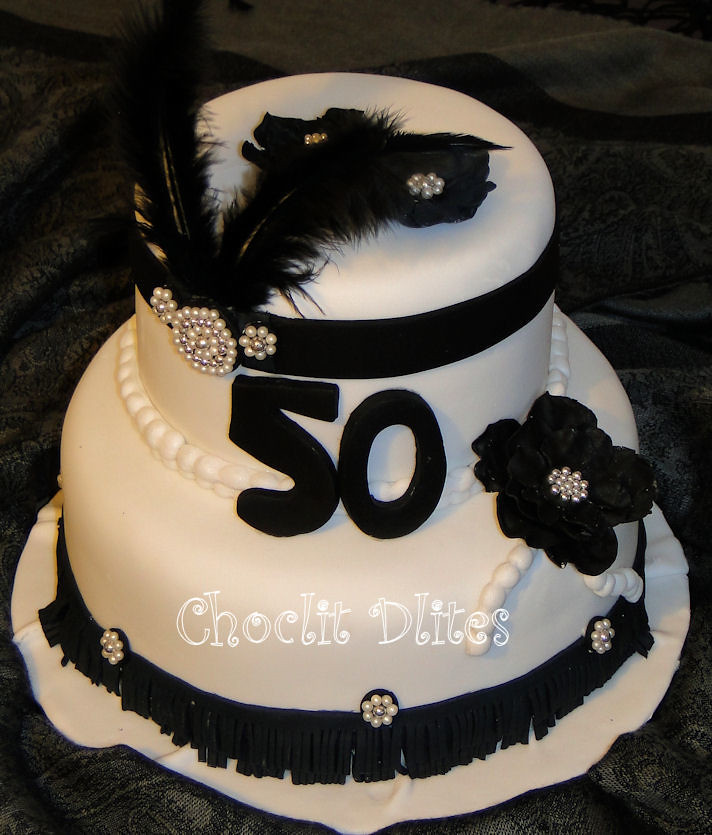Great Gatsby 50th Cake Cake For A 50th Birthday Celebratio Flickr