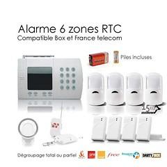 Alarme 6 ZONES RTC