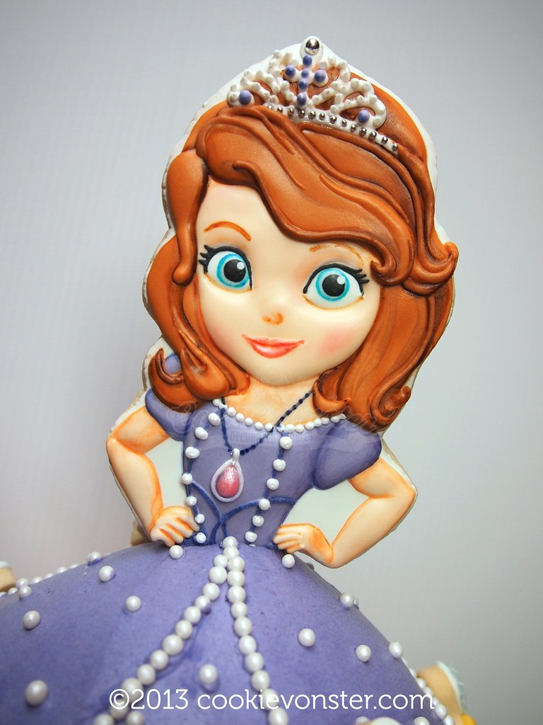 Sofia The First Cookie Cake Topper Shortbread Cookie