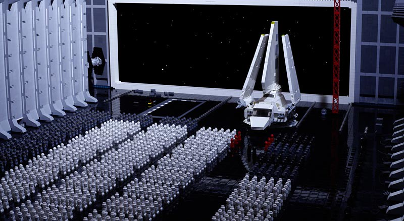 Lego Storm Troopers Build Death Star