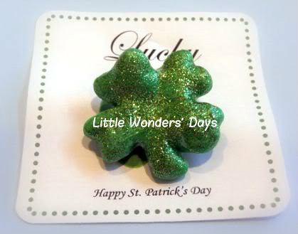 Salt Dough Shamrocks (Photo from Little Wonders' Days)