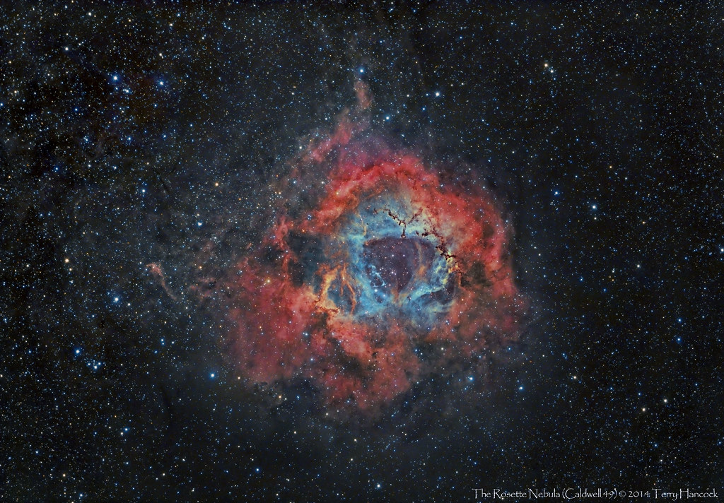 The Rosette Nebula Caldwell 49 Here Shown As A Color