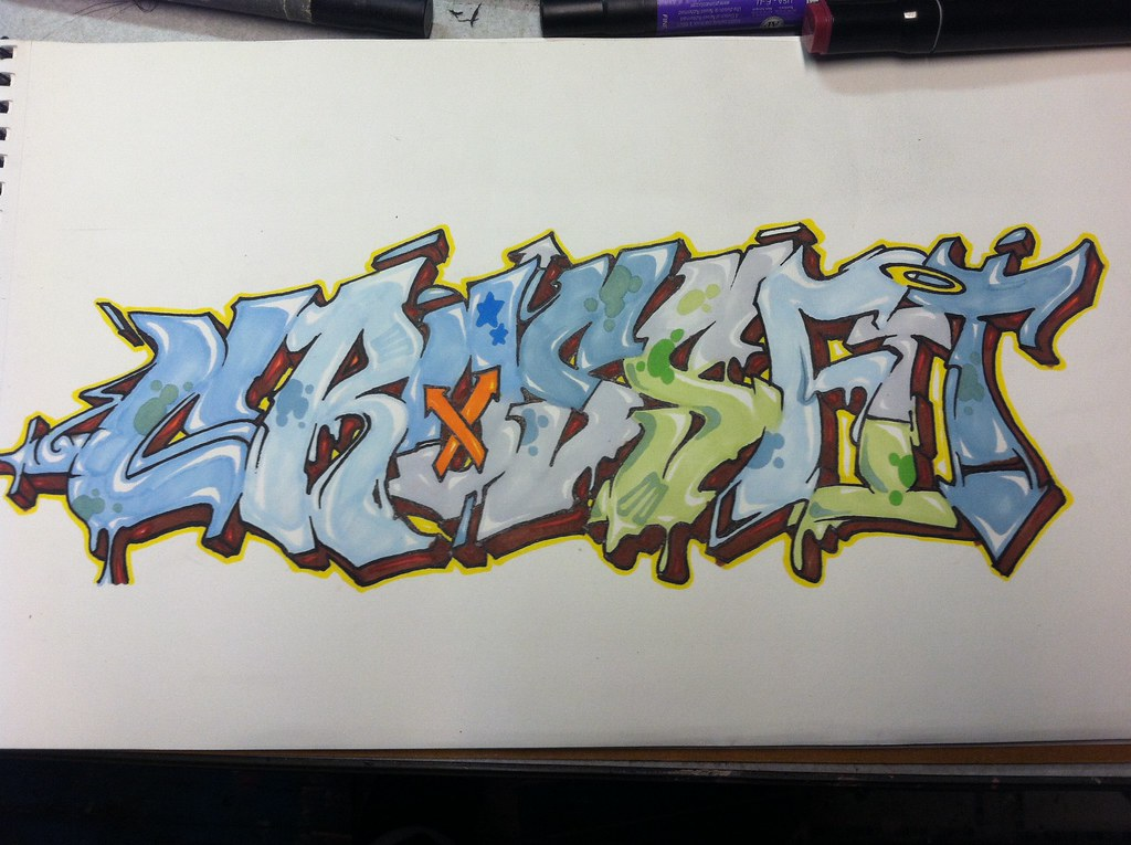 Crossfit Graffiti Drawing