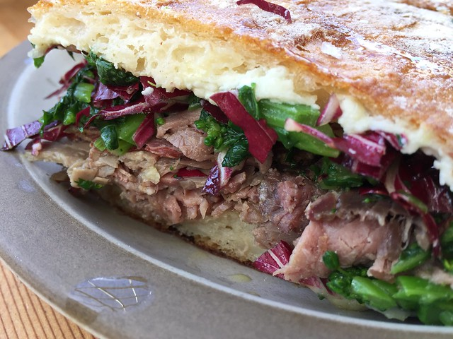 Roast Beef Flatbread Sandwich