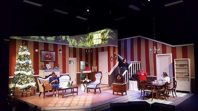Ballyhoo set with 3 actors in various locations