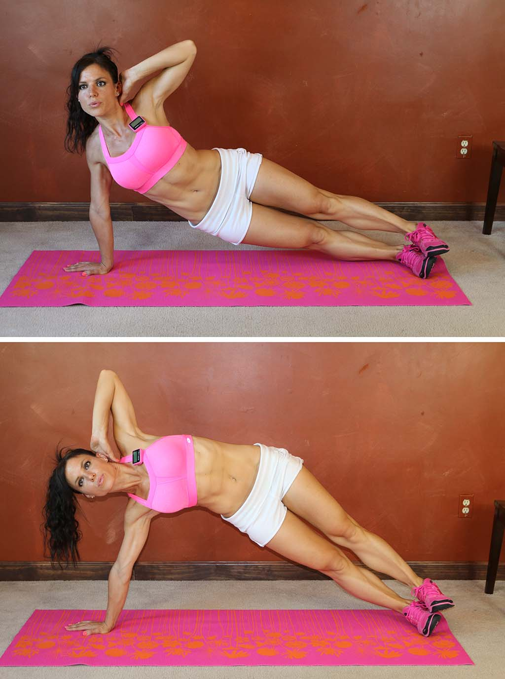 Exercises To Get Flat Stomach & The Sexiest Abs #9: How To Make Side Plank Hip Lifts