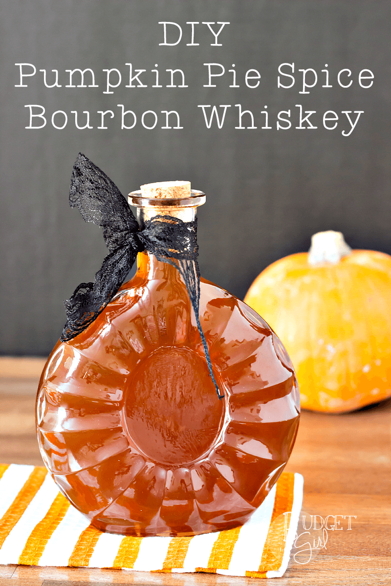 DIY Pumpkin Pie Spice Bourbon Whiskey